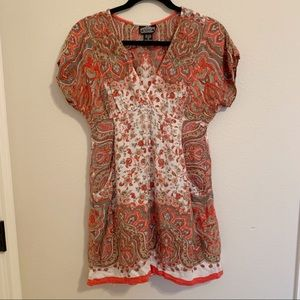 Angie boho floral pattern tunic